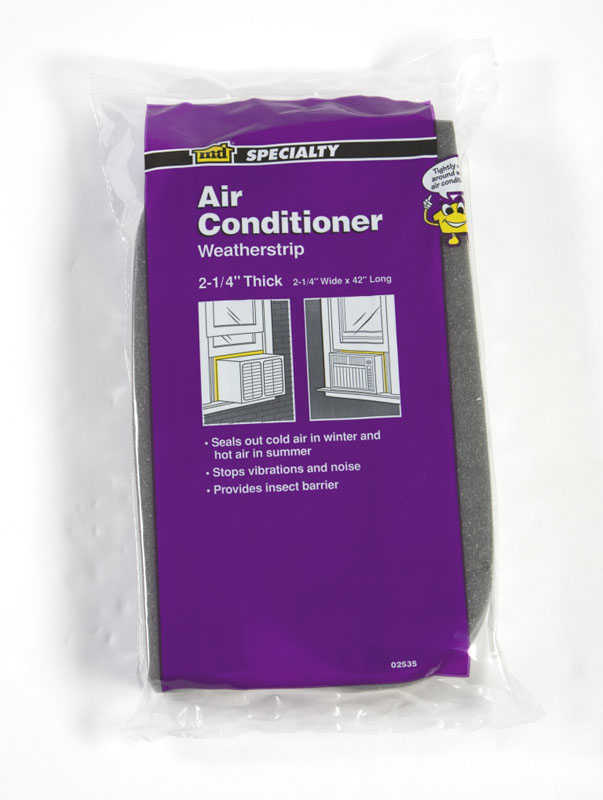 "Air Conditioner Weatherstrip - Open Cell - 2-1/4"" X 2-1/4"" X 42"" by M-D Building Products - MDBuildingProducts.com"