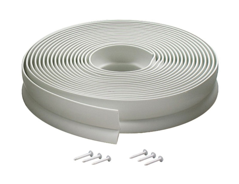 GARAGE DOOR SEAL F/TOP&SIDES 30' WHT P0054 by M-D Building Products - MDBuildingProducts.com