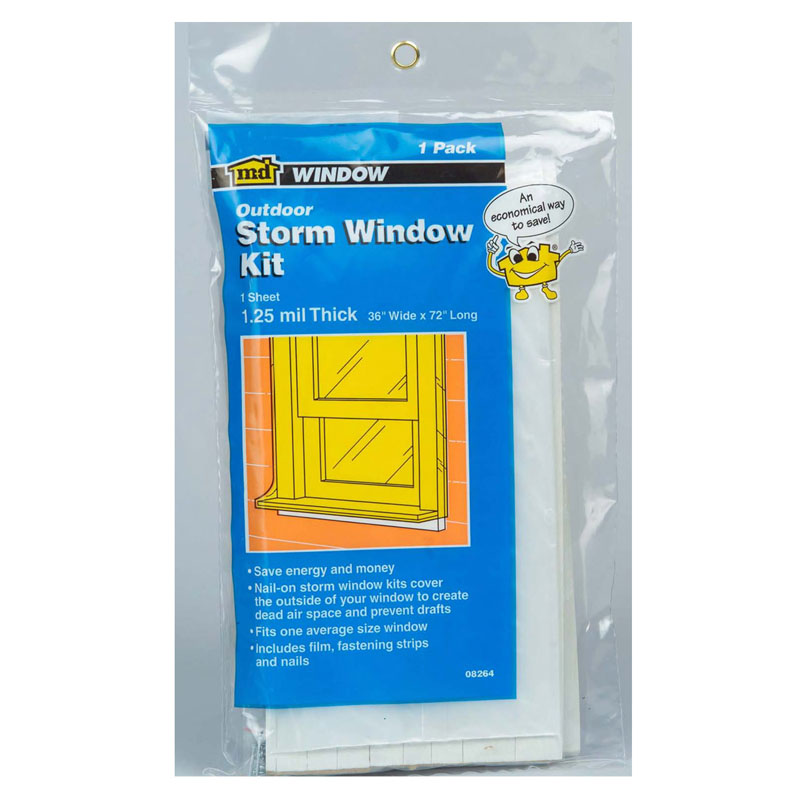 3' X 6' X 1.25 Mil Economy Storm Window Kit (1 Window) by M-D Building Products - MDBuildingProducts.com