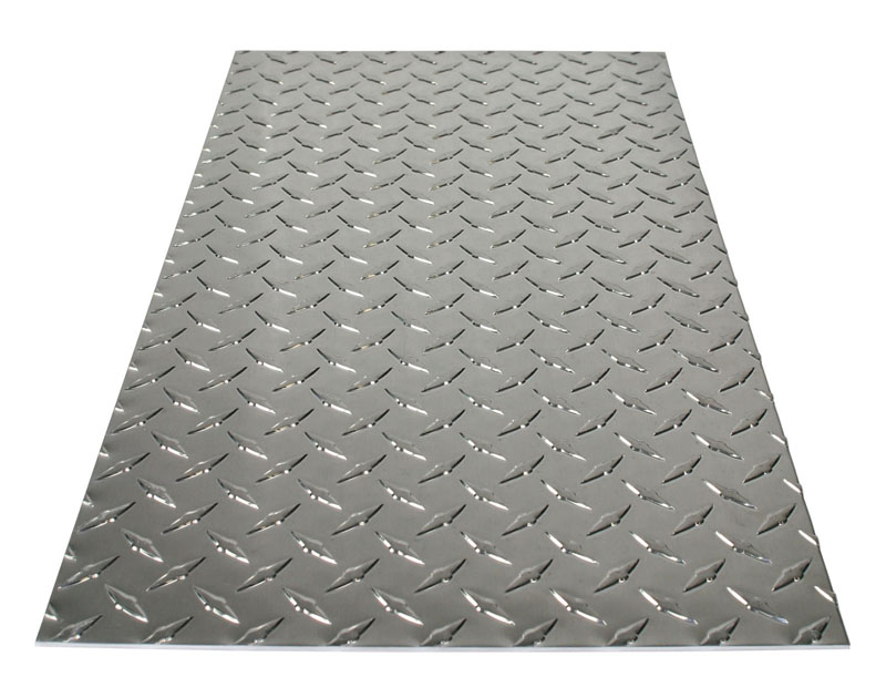 "11-7/8"" X 23-7/8"" Polished Aluminum Treadplate - .073"" Thick by M-D Building Products - MDBuildingProducts.com"
