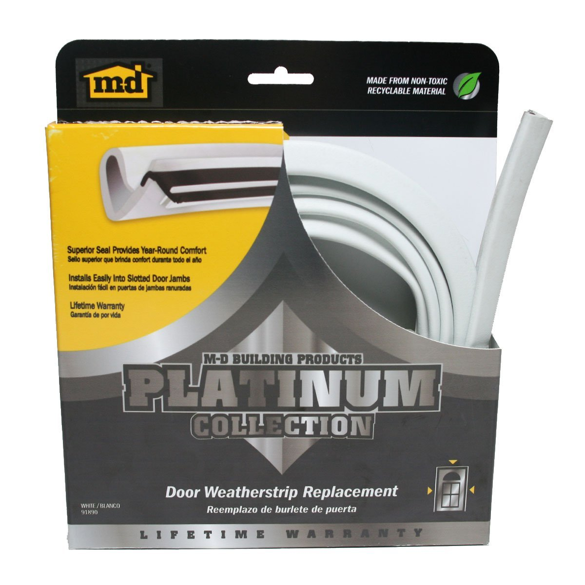 Platinum Collection Replacement Door ...  sc 1 st  M-D Building Products & Platinum Collection Replacement Door Weatherstrip u2013 White u2013 M-D ...