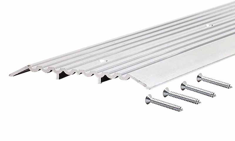 "6"" Heavy Duty Fluted Top Commercial Threshold - 1/2"" x 6"" - 36"" by M-D Building Products - MDBuildingProducts.com"