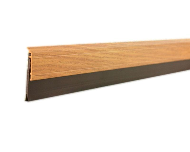 2-5/8 in. x 36 in. Deluxe Aluminum and Vinyl Door Sweep in Oak by M-D Building Products - MDBuildingProducts.com