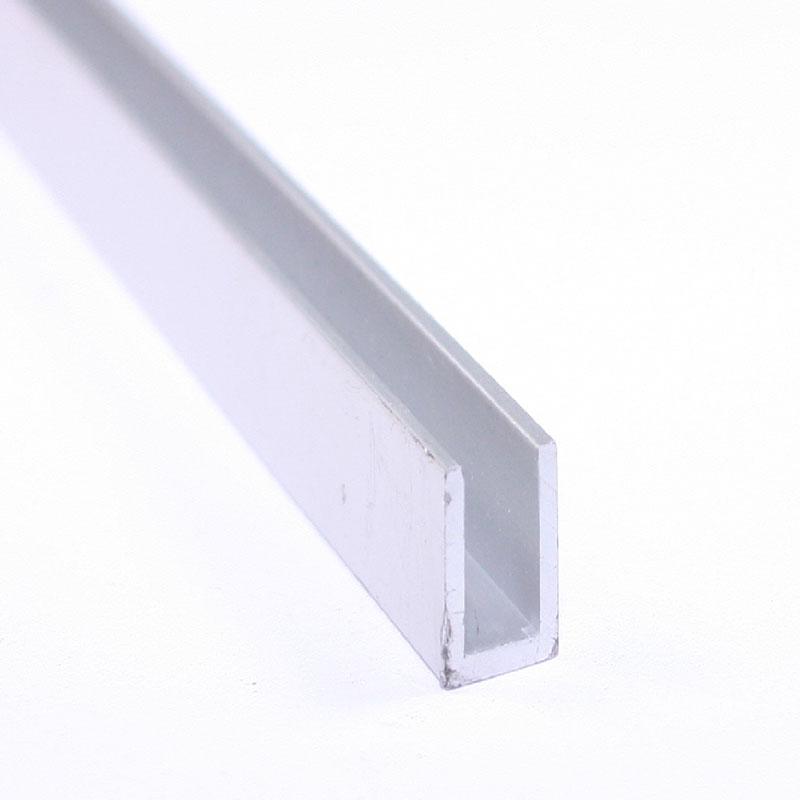 """Alu448-Bs Brushed Satin 1/"""" Inside Dimension Mldg Aluminum U-Channel//C-Channel"""